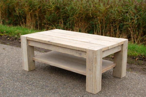 steigerhouten salontafel welle met onderblad