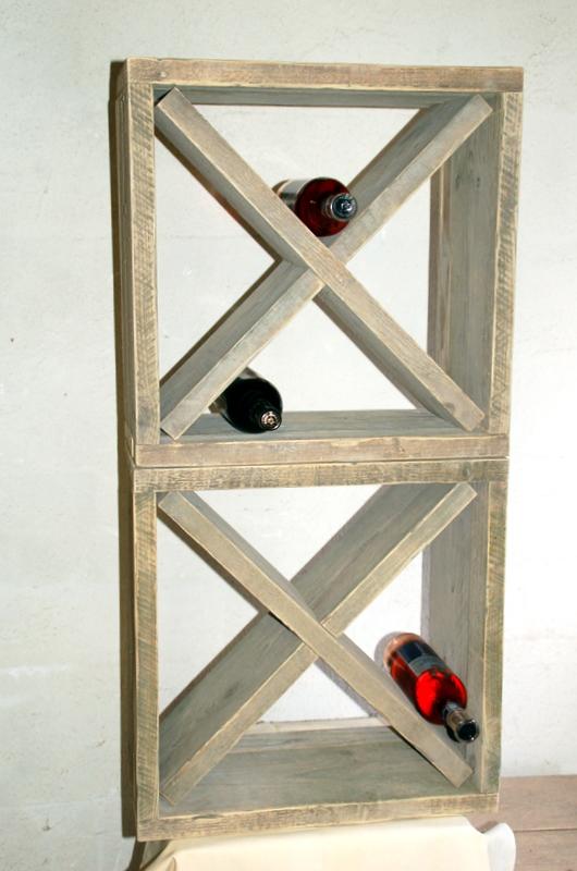 steigerhouten wijnrek krûswetter
